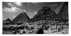 Stair Stepped Pyramids Beach Towel