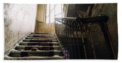 Stairs In Haunted House Beach Sheet