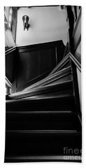 Beach Towel featuring the photograph Stairway In Amsterdam Bw by RicardMN Photography