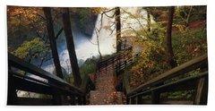 Stairway To Brandywine Beach Sheet by Rob Blair