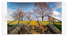 Stairway To Federal Hill Beach Sheet by Brian Wallace