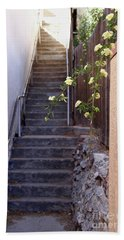 Stairway To Heaven Beach Sheet by Suzanne Oesterling