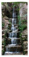 Stairway Waterfall Beach Towel