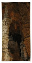 Stalacmites In Luray Caverns Va  Beach Sheet by Ausra Huntington nee Paulauskaite