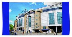 Stamford Bridge Home Of Chelsea Fc Beach Towel