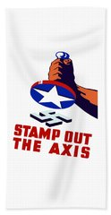 Stamp Out The Axis Beach Towel