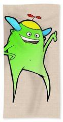 Beach Towel featuring the drawing Stan Dupp by Uncle J's Monsters