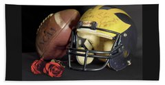 Stan Edwards's Autographed Helmet With Roses Beach Sheet