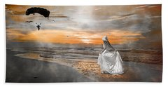 Standing By My Word Beach Towel by Betsy Knapp