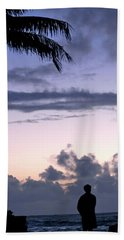 Standing In Kapoho's Morning Light  Beach Towel