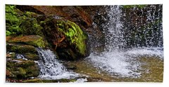 Standing In Motion - Brasstown Falls 011 Beach Towel by George Bostian