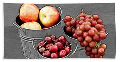 Beach Towel featuring the photograph Standing Out As Fruit by Sherry Hallemeier