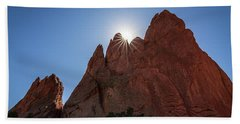 Standstone Sunburst - Garden Of The Gods Colorado Beach Sheet
