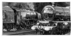 Stanier Pacifics At Swanwick Beach Towel