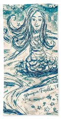Beach Towel featuring the painting Star Bearer Mermaid by Monique Faella