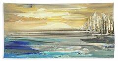 Beach Towel featuring the painting Star Born by Tatiana Iliina