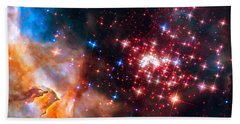 Beach Sheet featuring the photograph Star Cluster Westerlund 2 Space Image by Matthias Hauser