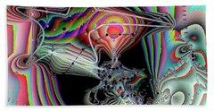 Beach Sheet featuring the digital art Star Defomation by Ron Bissett