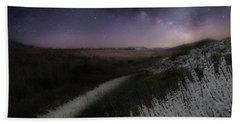 Beach Towel featuring the photograph Star Flowers by Bill Wakeley