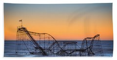 Star Jet Roller Coaster Ride  Beach Towel