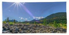 Star Over Creek Bed Rocky Mountain National Park Colorado Beach Sheet