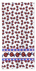 Beach Sheet featuring the digital art Star-spangled Lady Bugs by Methune Hively