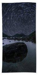 Star Trails Over Jordan Pond Beach Sheet