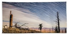 Star Trails Over Mt. Graham Beach Towel
