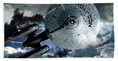 Star Trek Into Darkness, Original Mixed Media Beach Towel