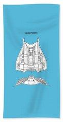 Star Wars - Snowspeeder Patent Beach Towel