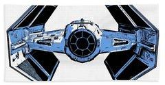 Star Wars Tie Fighter Advanced X1 Beach Towel by Edward Fielding