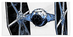Star Wars Tie Fighter Beach Sheet by Edward Fielding