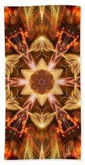 Starbright Mandala Beach Sheet by Wernher Krutein