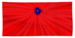 Starburst 2' By Sumi E Master Linda Velasquez Beach Sheet by Linda Velasquez