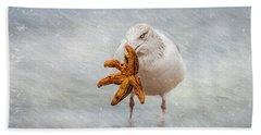 Starfish For Dinner Beach Towel