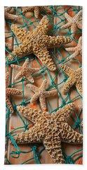 Starfish In Net Beach Towel