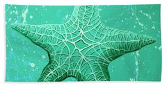 Starfish In Teal Beach Towel