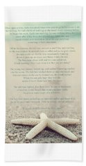 Starfish Make A Difference Vintage Set 1 Beach Towel