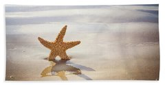 Starfish On The Beach Beach Towel