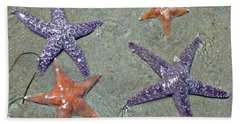 Beach Towel featuring the photograph Starfish Party by 'REA' Gallery