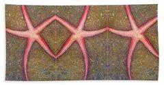 Starfish Pattern Bar Beach Towel