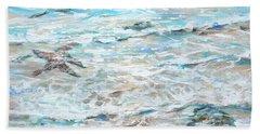 Starfish Under Shallows Beach Towel