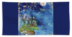 Starfishing In A Mystical Land Beach Towel