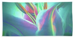 Stargazer-floral Abstract Beach Towel