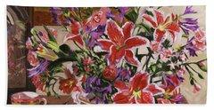 Stargazer Lilies Beach Sheet