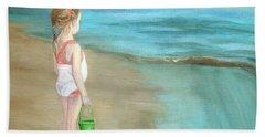 Staring At The Sea Beach Towel