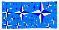 Starlight 9 Beach Sheet by Linda Velasquez