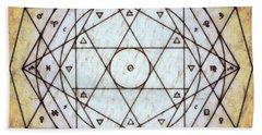 Beach Towel featuring the digital art Starr Matrixx by Derek Gedney