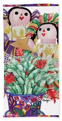 Starring The Christmas Cactus Beach Towel