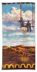 Starry Day Beach Towel by Randy Burns